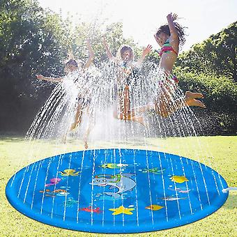 170 Cm Inflatable Spray Water Cushion- Summer Kids Play Water Mat Lawn Games