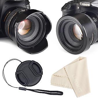 Odwracalna osłona obiektywu kwiatowego do aparatów canon nikon sony reflex + środkowa osłona obiektywu szczypta + pasek przytrzymaj wom84873
