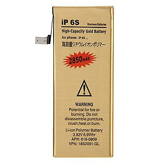 2850mAh High Capacity Gold Rechargeable Li-Polymer Battery for iPhone 6s
