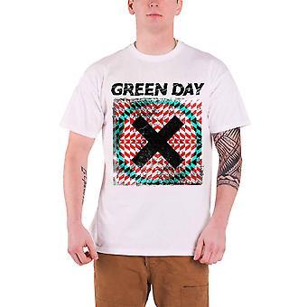 Green Day T Shirt Xllusion Album Logo Officiel Mens New White