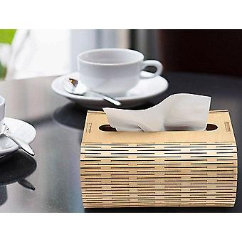 Boîte de tissu en bois