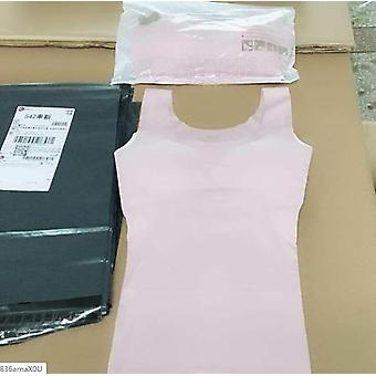 Ice Silk Tank Top Wireless Lingerie Push Up Seamless Vest Crop Tee Camisole