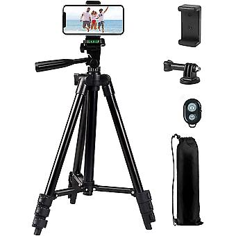 "42"" Aluminum Lightweight Portable Camera Tripod for Smartphone/Action Camera"