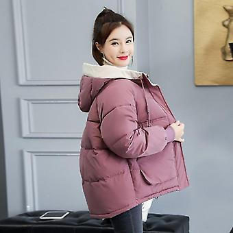 Winter Fashion Cotton-padded Parka Outwear Hooded Solid Jacket