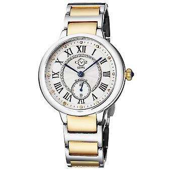GV2 Rome Women's Silver Dial Two Tone Yellow Gold Bracelet Watch