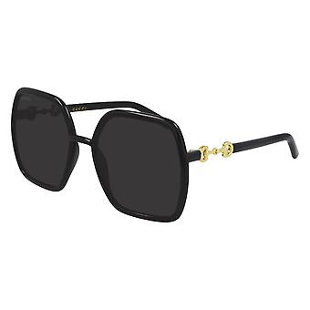 Gucci GG0890S 001 Black/Grey Sunglasses
