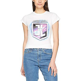 Justice League Womens/Ladies Purple Shield T-Shirt