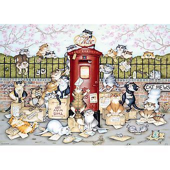 Ravensburger Jigsaw Puzzle Crazy Cats Vintage No.9 - Kadonnut Post 1000 kappaletta