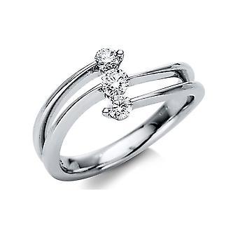 Luna Criação Promessa anel múltiplo guarnição de pedra 1H974W854-1 - Largura do anel: 54
