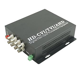 Eight Channel Ahd Hdcvi Hdtvi Single Mode Fiber Fc Transmitter And Receiver
