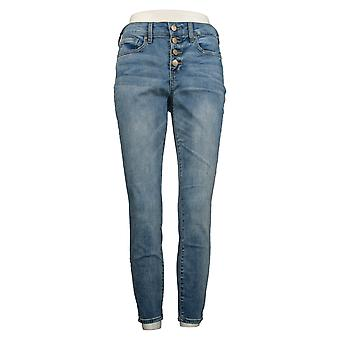 NYDJ Women's Jeans Ami Ankle Exposed Button Fly Biscayne Blue A377714