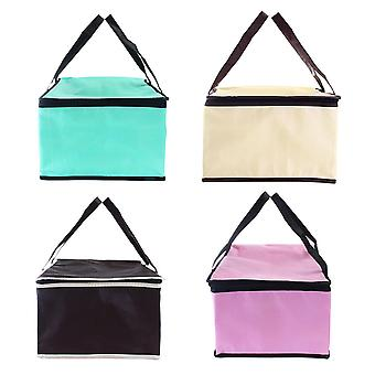 10 Inch Non-woven Fresh Keeping Tote Bag with Zipper Cake Picnic Lunch Bag Reusable Grocery Bag