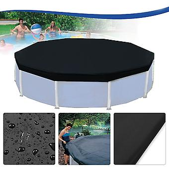 3.6m 12 Feet Protective Black Pool Cover for Above Ground Frame Inflatable Swimming Pools