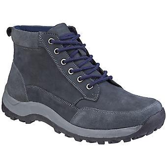 Cotswold Slad Mens Leather Walking Hiking Boots Navy UK Size