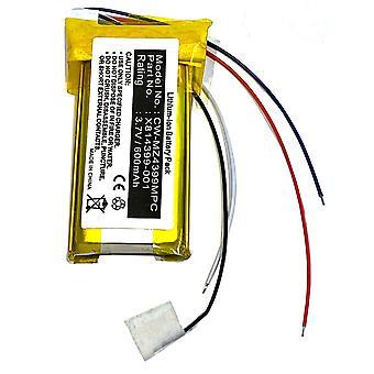 Bateria para Microsoft Zune 120gb 80gb X814399-001 H3A-00001 2ª Geração Gen PDA-175LI-80G