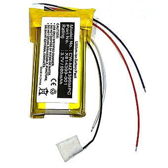 Batteri for Microsoft Zune 120gb 80gb X814399-001 H3A-00001 andre generasjon Gen PDA-175LI-80G