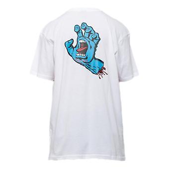 Santa Cruz Screaming Hand Chest T-Shirt - White