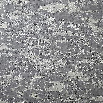 Patina Grey/Silver Wallpaper