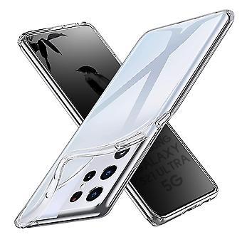Coque Pour Samsung Galaxy S21 Ultra 5g, Housse De Protection En Silicone De Haute Qualité, Transparent