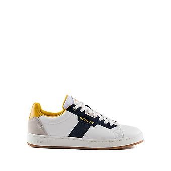 Replay Men's Lace Up Sneakers Blanc