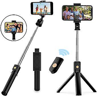 HanFei Selfie Stick Stativ, 3 in 1 Mini Selfiestick mit Bluetooth-Fernauslse Handy Erweiterbarer