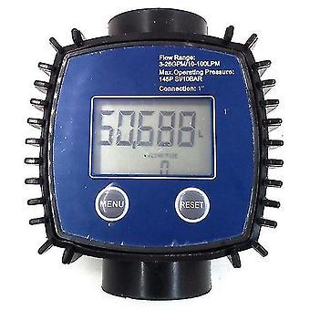 K24 adjustable digital turbine flow meter for oil,kerosene,chemicals,gasoline,methanol,water,urea,etc.10-120l/min