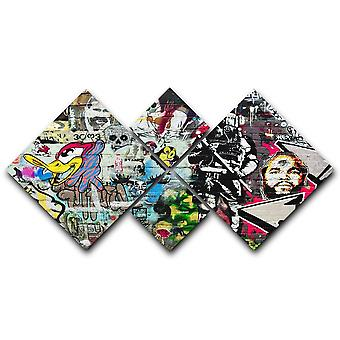 Graffiti seinä abstrakti kangas