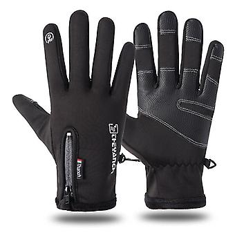 Cold-proof Ski Gloves Waterproof Winter Gloves Cycling Fluff Warm Gloves