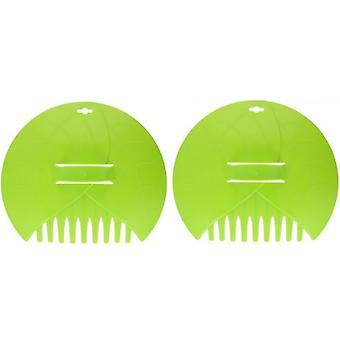 leaf gripper 36 cm plastic green 2-piece