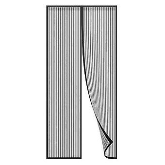 Hyönteinen Mesh kaksinkertainen ovi 220x180 hyönteis suoja musta magneettinen Hyttys verkko