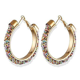 Big Hoop Gold Round Ear Rings