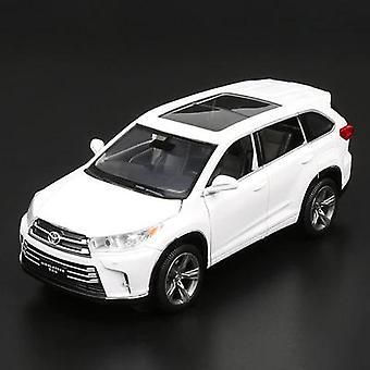 1:32 Toyota Highlander SUV Alloy Car Model(White)