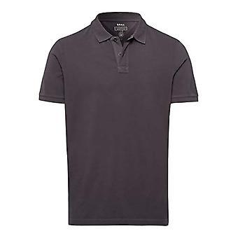 BRAX Pele Garment Dye pique T-Shirt, Grey (Street 08), Small Man