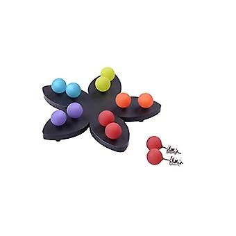 5 pairs of Polaris pin earrings 8 mm assorted colors
