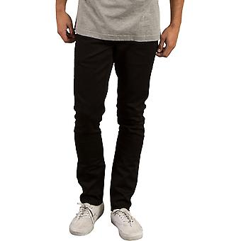 Volcom 2X4 denim skinny fit jeans zwart op zwart