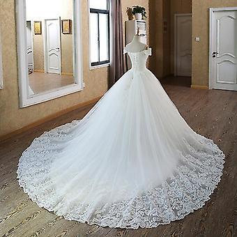 Vintage Muslim Plus méret Csipke esküvői ruha