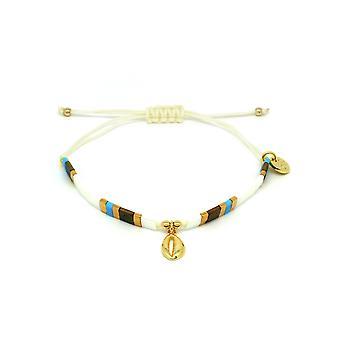 Boho betty casimiora white tila bead shell friendship bracelet