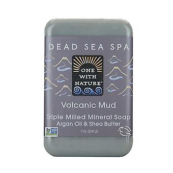 One with Nature Triple Milled Mineral Soap, Volcanic Mud 7 Oz