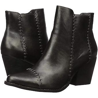 Coconuts by Matisse Womens Elaine Faux Leather Stacked Ankle Boots