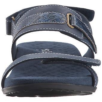 SoftWalk Womens Bimmer Leather Open Toe Casual Slingback Sandals