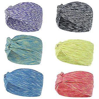6 Colors Nonslip Elastic Folds Yoga Hairband Fashion Wide Sports Headband Running Accessories Summer
