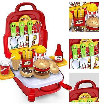 Kinder Werkzeug-Sets für Jungen Alter Carpenter Vorschule Befestigungs-Tool-Kit mit Box (rot)