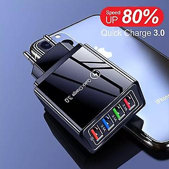 Yksinkertainen valovoimainen 4usb-matkapuhelinlaturi