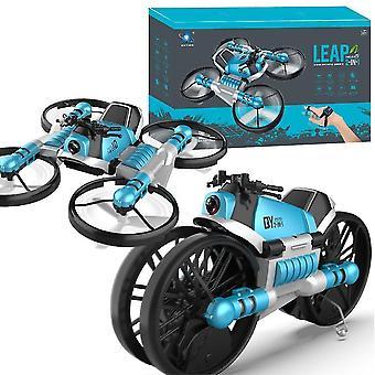 Kaukosäädin epämuodostunut moottoripyörä Teräväpiirtokamera Ilmakuvaus Drone Quadcopter (sininen)