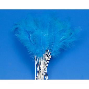 36 Blå 28cm Fjäder Spray Plockar för Blomsterhandlare och hantverk