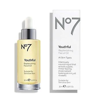 No7 Youthful Replenishing Oil