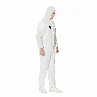 5 Pieces Of One-piece Non-woven Disposable Protective Clothing With Hood (xxl Code)