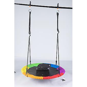 Homemiyn שישה צבעים נדנדות עמיד מושב נדנדה לילדים, נדנדת עץ לילדים - סביב צעצועים נדנדה חיצונית מקורה