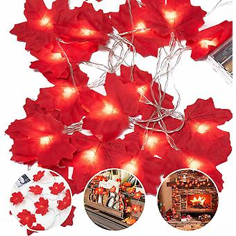 Fairy Lights 20 Maple Leaf Light Garten Außenleuchten Thanksgiving Dekorationen