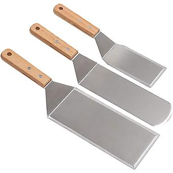 Professional Spatula Set Stainless Steel Pancake Turner And Griddle Scraper